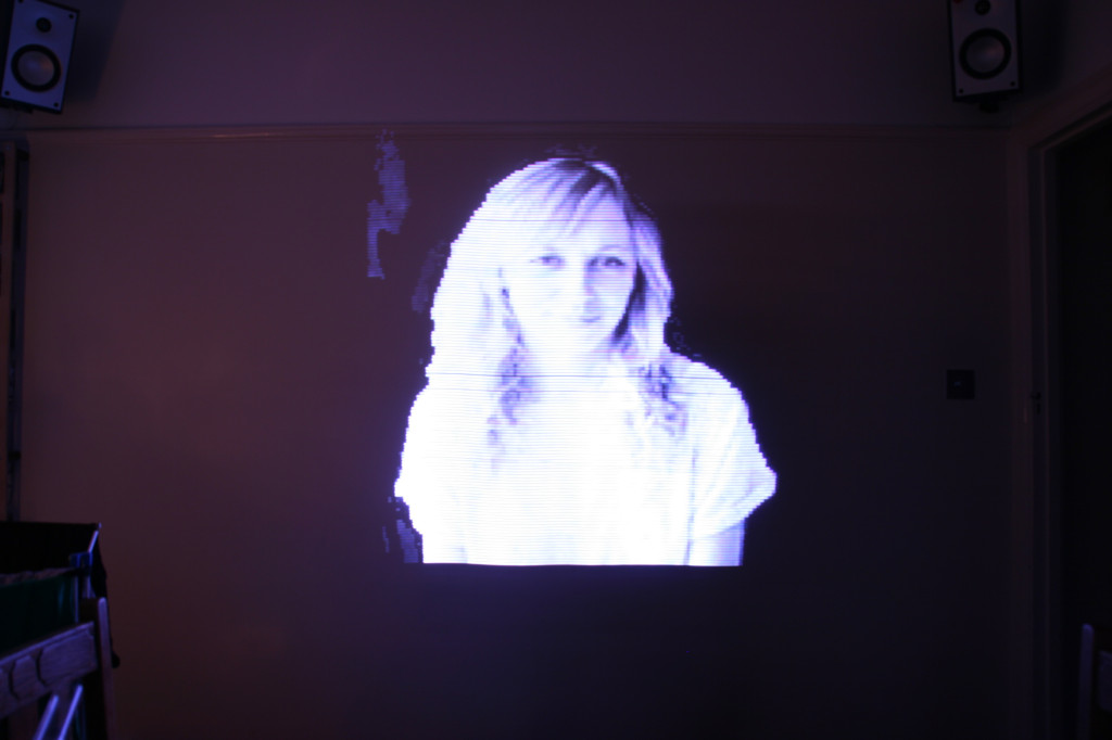 this light painting uses the staff to display row after row of a bmp file created from a photograph