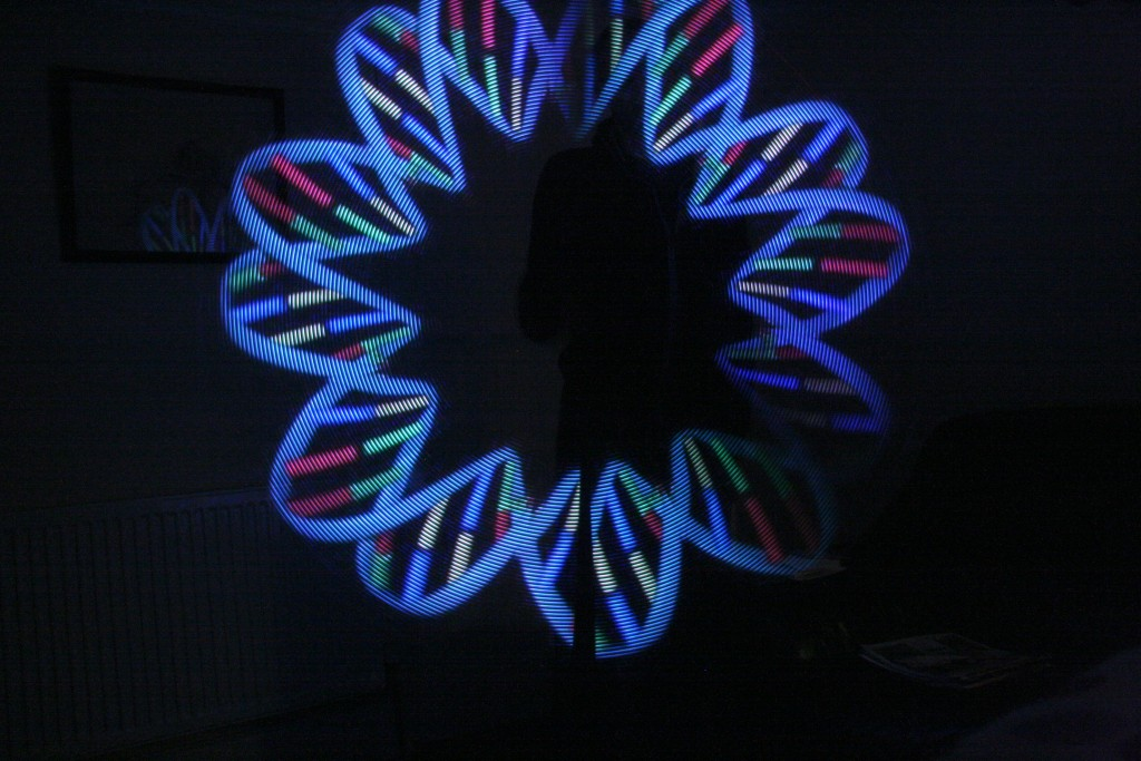 teensy 3 pixel poi using strips of apa102 leds